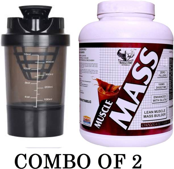 Boyhood 2.5 kg STAR MUSCLE MASS GAINER WITH SHAKER CHOCOLATE 2.5KG Home Gym Combo