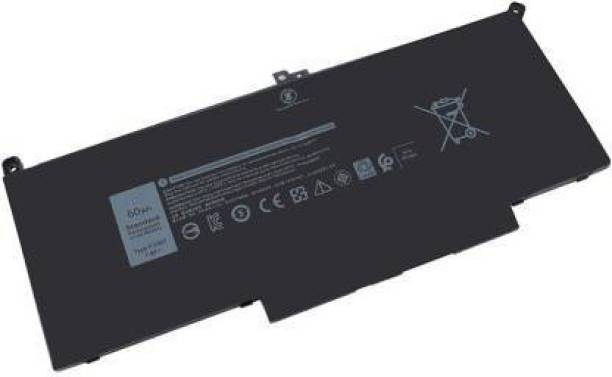 WAY2BUY F3YGT Laptop Battery Compatible for DL Latitude 12 7000 7280 7290/13 7000 7380 7390 P29S002/14 7000 7480 7490 P73G002 Series DM3WC DM6WC 2X39G KG7VF 451-BBYE 453-BBCF 4 Cell Laptop Battery 4 Cell Laptop Battery