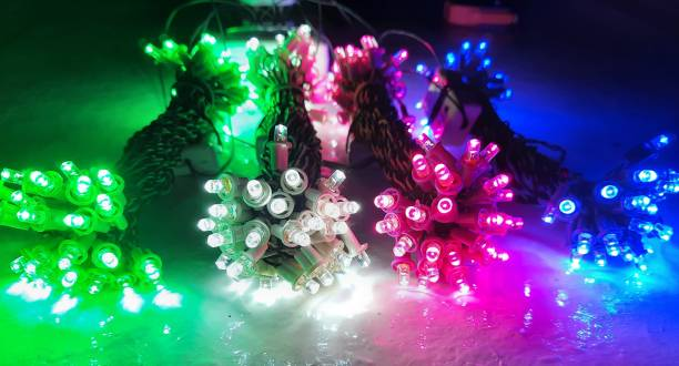 A.S.D. Electronics 336 inch White, Pink, Green, Blue Rice Lights