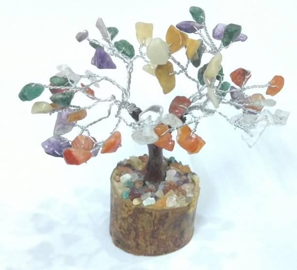 Astrodidi Gemstone / Navratan Tree (Small Size) Decorative Showpiece  -  12 cm