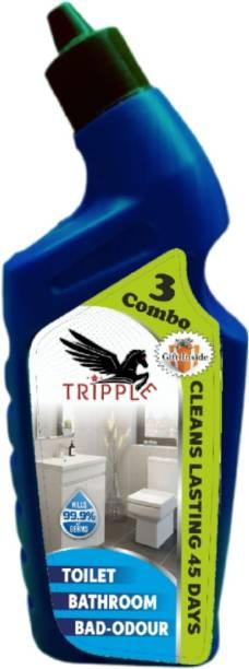 Tripple Black cap single toilet cleaner Floral Gel Toilet Cleaner