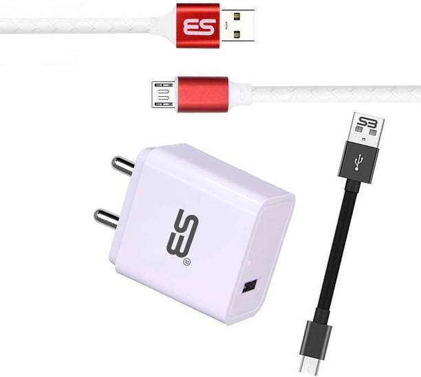 shopbucket 3.1AMP Single USB Port Fast Charger 18W BIS Certified, Auto-detect Technology, with Micro USB (Metal Cap) Data Cable 3.0A Data & Sync Cable (Red) Length 1 Meter Long Cable | Tangle Free | Unbreakable | Smooth Pvc Braided Compatible with Infinix S5 Lite, Infinix S6, Infinix Zero 8i, Infinix S5, Infinix Smart 3 Plus. 18 W 3.1 A Mobile Charger with Detachable Cable