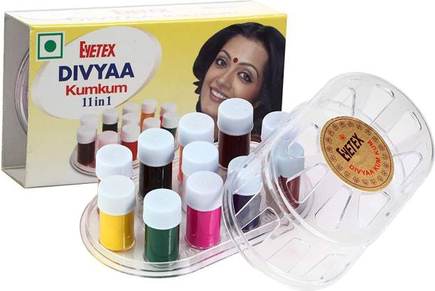 Eyetex Divyaa Liquid KumKum Bindi Multicolor liquid Kumkum – 11 in1 For Women and Girls Multicolor Bindis