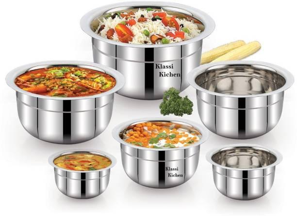 KLASSI KICHEN Stainless Steel Tope Set (6 Pieces ) Cookware Set