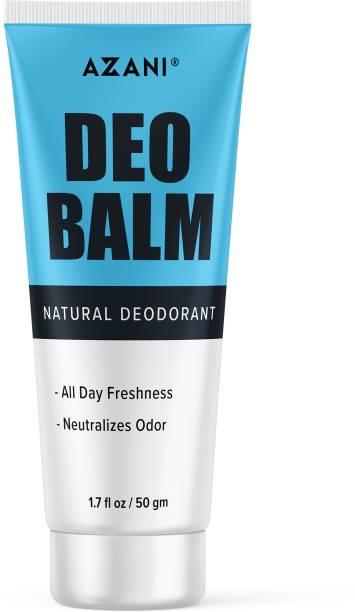 Azani Active Care Deo Balm|Removes Odour, Fresh & Clean Skin, Antiperspirant|Shea Butter, Sweet Almond Oil,| Long Lasting ,Women & Men Deodorant Cream  -  For Men