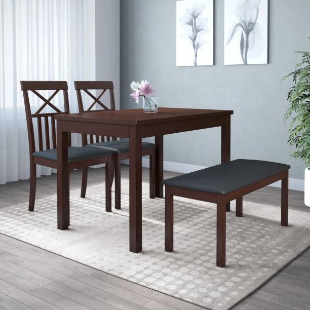 @Home by nilkamal Ridge Solid Wood 4 Seater Dining Set