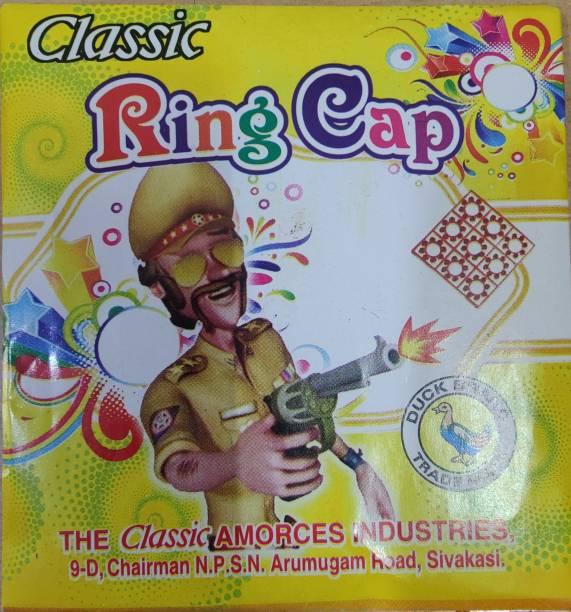 KHG Kids Toy Ring Cap for Gun (Ring Caps) / 8 Packets (72 Rings (576 Shots)) Diwali Gift for Kids Ring Cap Gag Toy