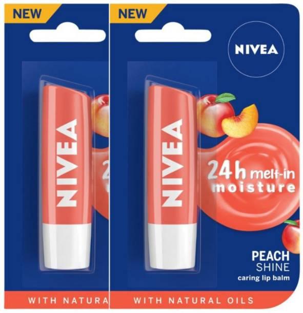 NIVEA Peach Fruity Shine Lip Balm Peach