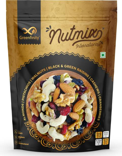GreenFinity Premium International Healthy Nutmix | Mixed Dryfruits | Rich in Fibre, Calcium & Iron | Boost Immunity and Digestion