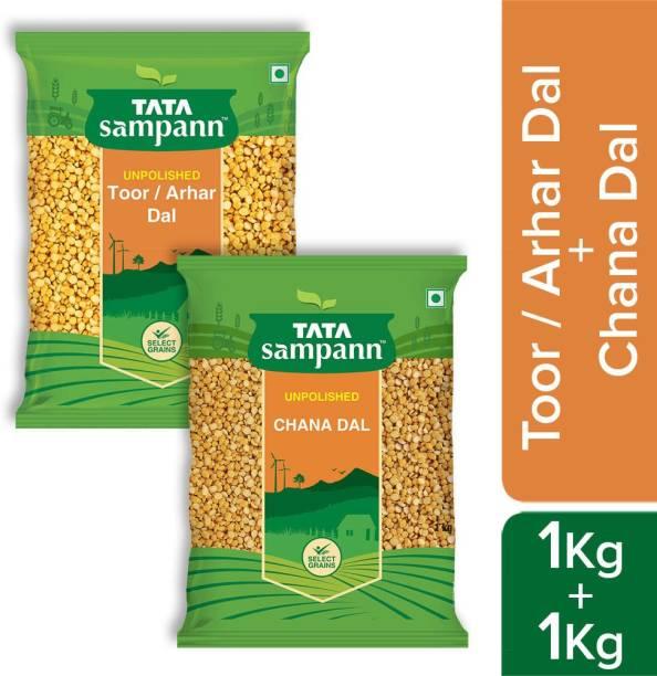 Tata Samapann Toor Dal 1 kg with Chana Dal 1 kg