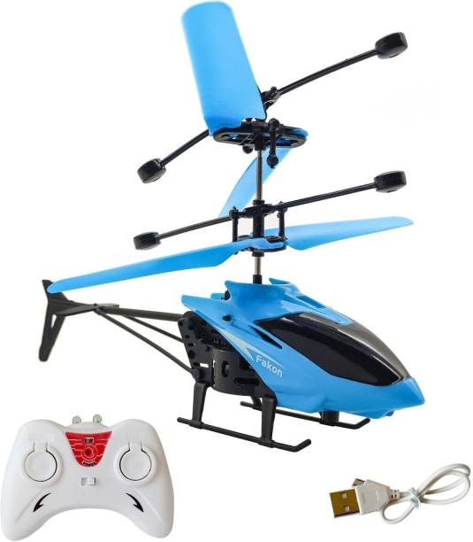 Miss & Chief 2 in 1 Infrared Induction Helicopter, Sensor Aircraft with USB Charger ,Flying Helicopter with Remote, 6 to 14 Years