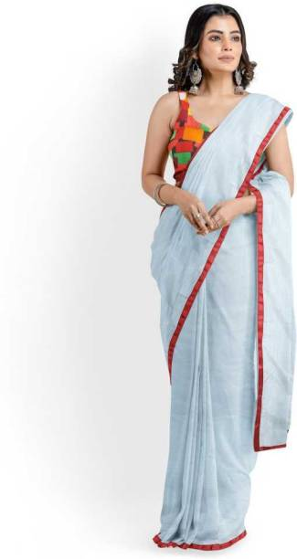 DEVICE OF HORSE Solid Bollywood Art Silk Saree