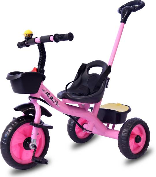 Little Olive Tricycle for Kids - Pushbar Footrest Safety Harness Little Toes Tricycle for Kids with Pushbar, Footrest, Safety Harness Tricycle