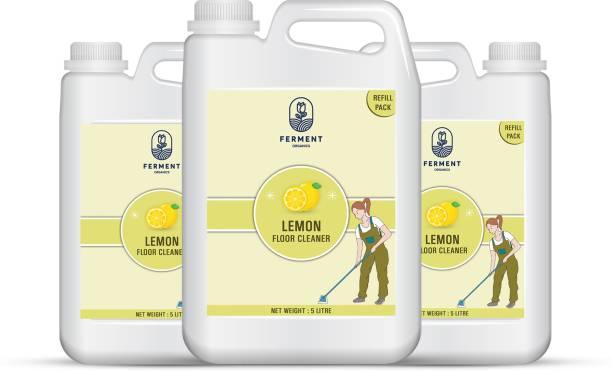 FERMENT Lemon Floor Cleaner 15 Liter (5Ltr+5Ltr+5Ltr) Combo Pack 3 Lemon