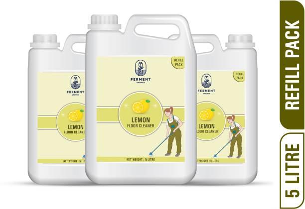 FERMENT Lemon Floor Cleaners 15 Liter (5Ltr+5Ltr+5Ltr) Combo Pack 3 Lemon