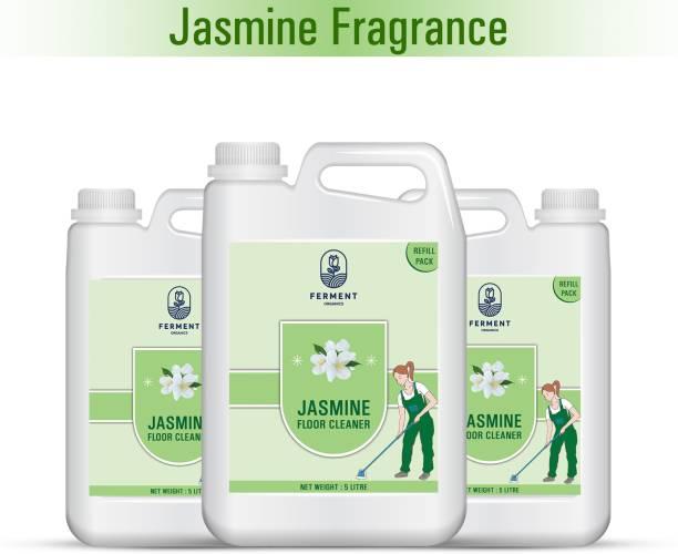 FERMENT Jasmin Floor Cleaner Liquid 15 Liter (5Ltr+5Ltr+5Ltr) Combo Pack 3 Jasmine