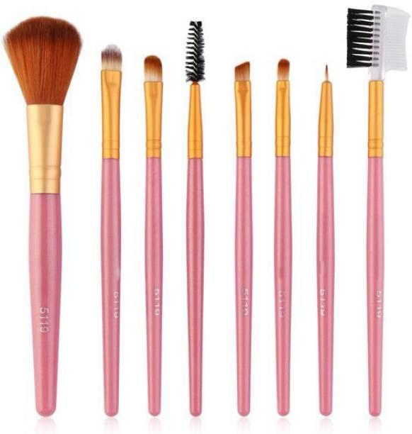 AMNEE 8 Pcs Make up Brush Set Buffer Powder Contour for Foundation Eyeshadow Makeup Brushes Eyeliner Blush Powder Concealer Contour (Pack of 8)