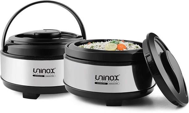 Metal Bear Uninox Exxaro Cassarole 1200 ML + 1200 ML Pack of 2 Thermoware Casserole Set