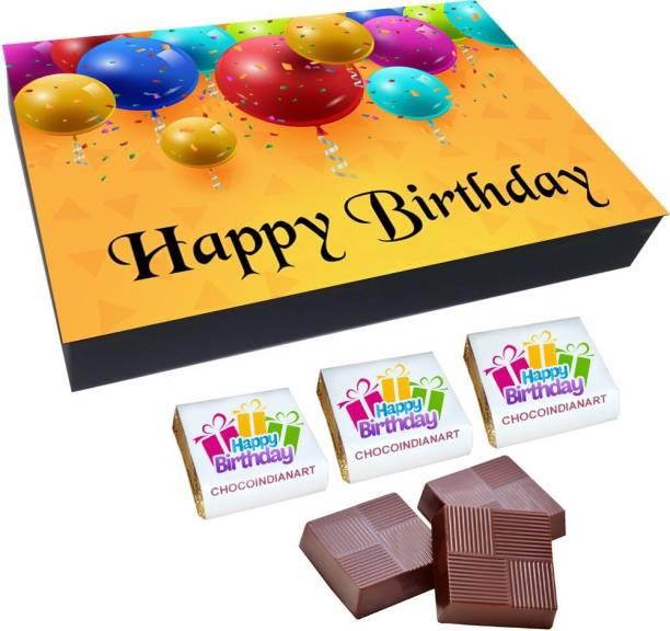 CHOCOINDIANART Happy birthday, 12 Delicious Chocolate Gift Box, Truffles
