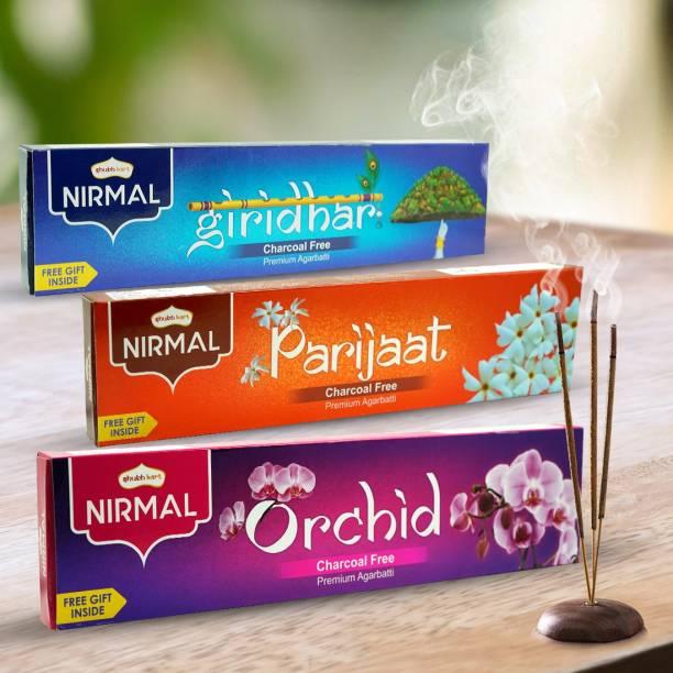 Shubhkart Nirmal Premium Incense Stick Giridhar, Parijaat, Orchid