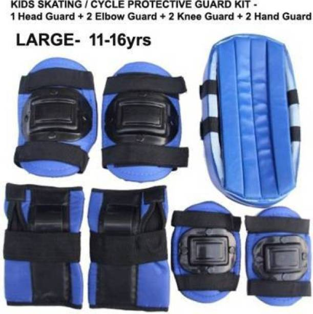 ANCSG Protective Skating / Cycling Guard Kit   Multi Sport Gear for Kids / Teens - LARGE (12-16yrs)   Head + Elbow + Knee + Hand Guards Skating Kit Cycling Kit