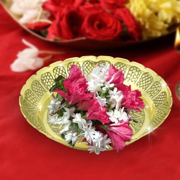 Shubhkart Nitya Prasadam Vastu Nakshi Plate Brass