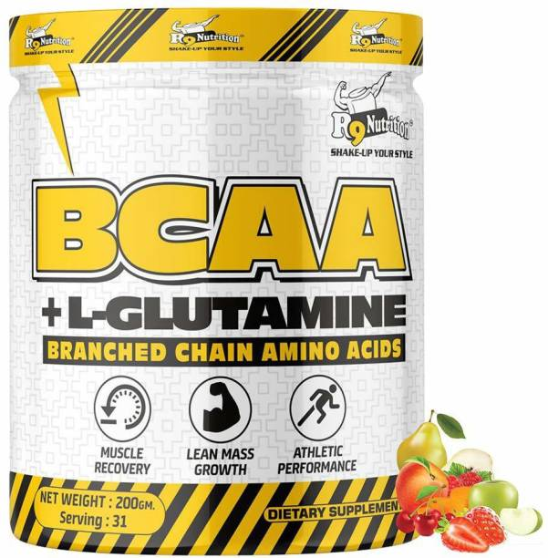 R9 Nutrition BCAA + GLUTAMINE Reduce Excerise fatigue, Muscle Wasting & Increase Muscle Growth BCAA