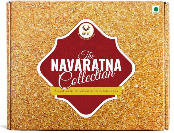 Namma Nellu Traditional Rice Gift Box - The Navaratna Collection (Includes 9 Rice Varieties) Brown Forbidden Rice (Unpolished)
