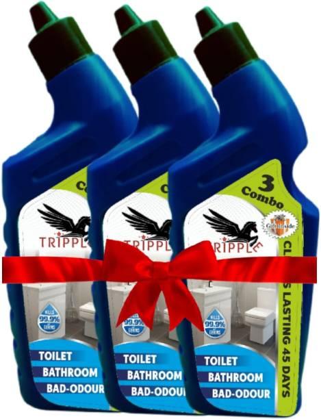 Tripple Three black cap toilet cleaner Floral Gel Toilet Cleaner