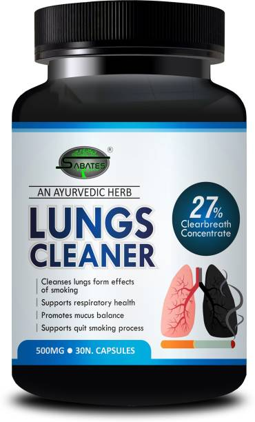 Sabates Lungs Cleaner Ayurvedic Capsules For de-addition of Alcohol, Cigarette, Ganja | Nasha Mukti 100% Organic And Herbal medicine