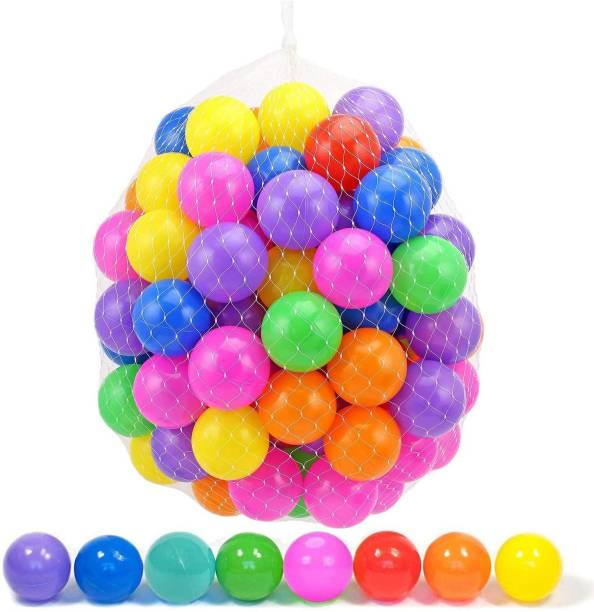 GoodLuck Baybee Baybee 24pcs Large Big Size Plastic Kids Pool Ball for Kids 8cm 24pcs Non Toxic Balls for Kids Big Size Bath Toy (Multicolor) Bath Toy
