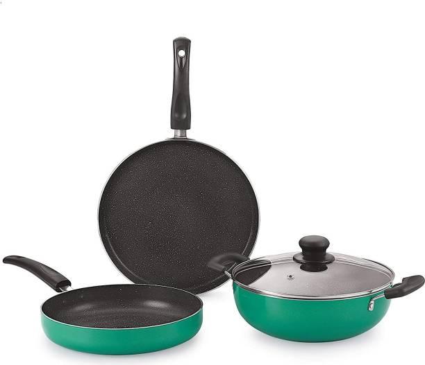 9T5 gift set 3 green Induction Bottom Cookware Set