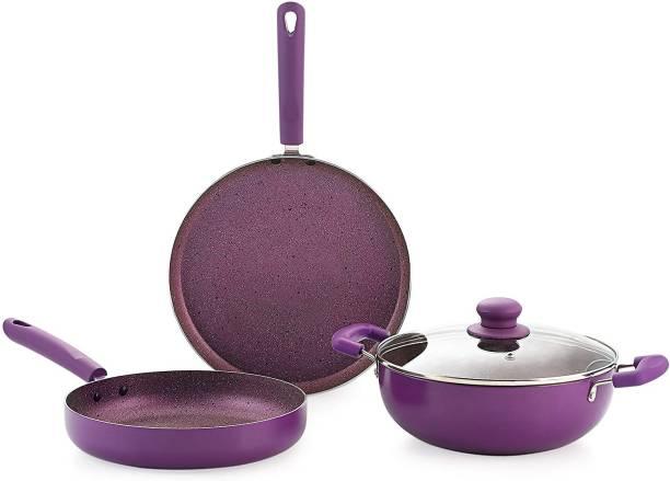 9T5 gift set 3 purple Induction Bottom Cookware Set