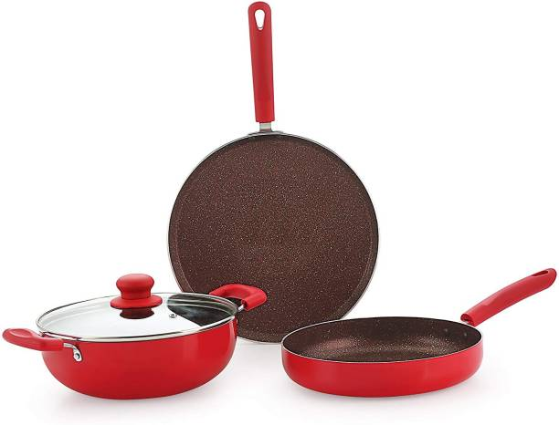 9T5 gift set 3 red Induction Bottom Cookware Set