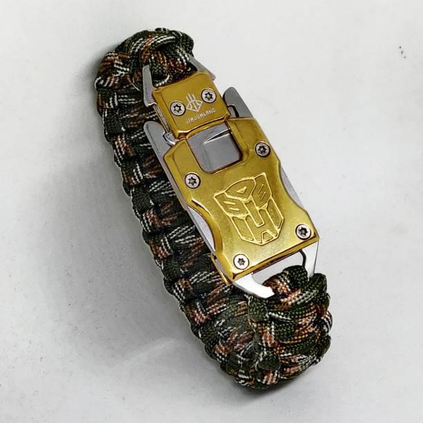 TrustShip ™ Transformer Paracord Survival Gear Kit for Hiking Traveling Camping Bracelet Flint Fire Starter Striker Included