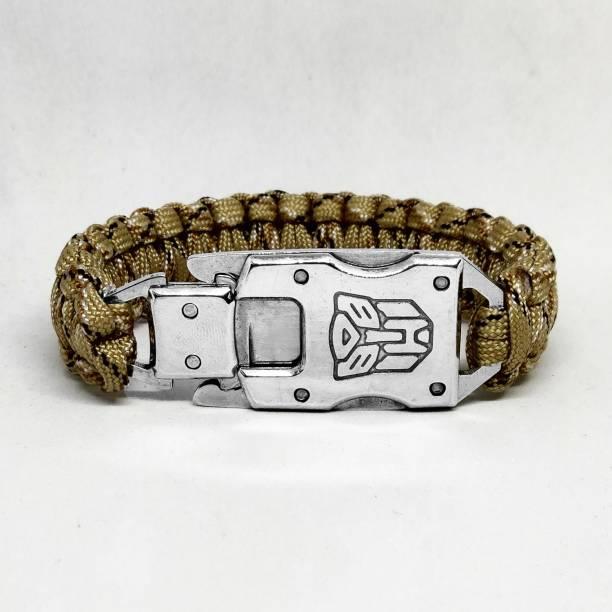 TrustShip ™Transformer Design Survival Hiking Travelling Camping Bracelet Mini Knife Include Flint Fire Starter Striker Included