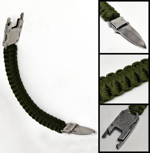 TrustShip ™Transformer Survival Gear Kit for Hiking Traveling Camping Bracelet Include Knife Flint Fire Starter Striker Included