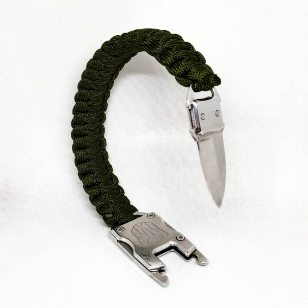 TrustShip ™Paracord Survival ,Emergency Tactical EDC Paracord Bracelet Mini Knife Include Flint Fire Starter Striker Included