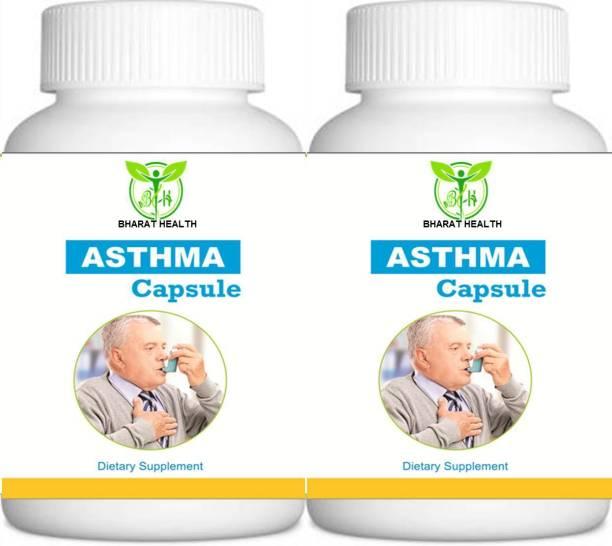 BHARAT HEALTH ASTHMA HEALTH CAPSULE AYURVEDIC RESPIRATORY HEALTH TREATMENT 60 CAPSULE ( PACK OF 2 )