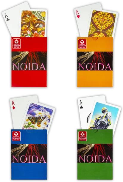 Noida 100% Plastic Playing Cards, Bridge Size, 4 Decks of Cards