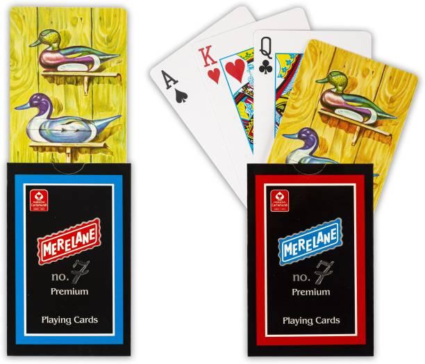 Merelane 7 Premium Premium Playing Cards, Bridge Size, 2 Decks of Cards
