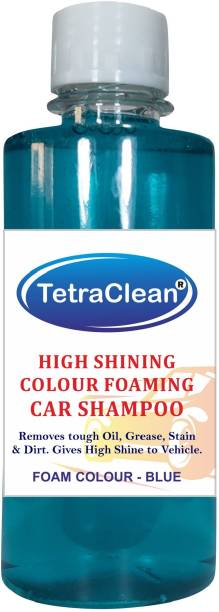 TetraClean Color Foam Car Shampoo for Machine Wash High Shining and Degreasing Color Foam Car Shampoo  Removes Tough Oil, Stains & Dirt, and Grease   Gives High Shine to Vehicles / Blue Color / 500ml Car Washing Liquid