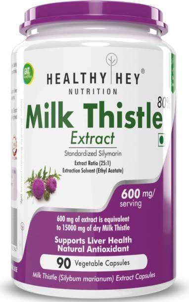 HealthyHey Nutrition HealthyHey Milk Thistle Extract 90 Vegetable Capsules
