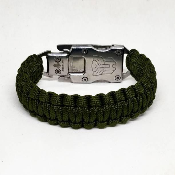 TrustShip ™ Paracord Rope Survival Emergency Tactical EDC Bracelet Mini Knife Include Flint Fire Starter Striker Included