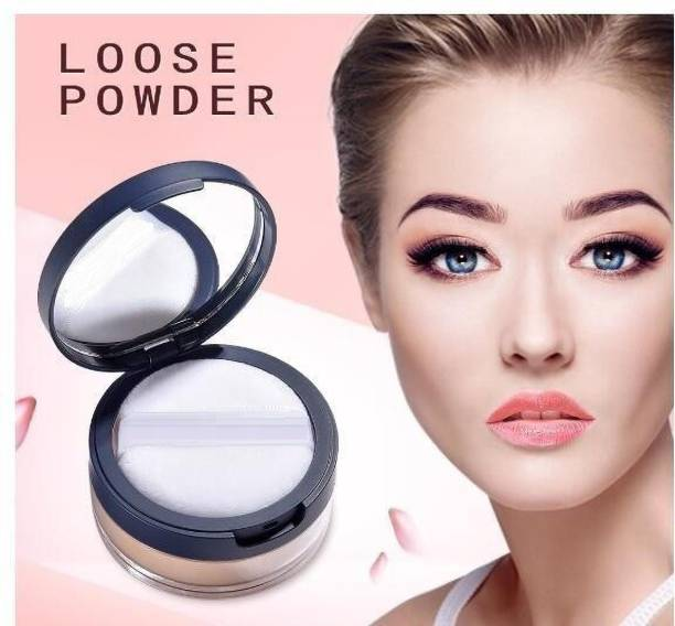 imelda BEST LONG LASTING & MATTE FINISH MAKEUP SETTING COMPACT LOOSE POWDER WITH PUFF Compact