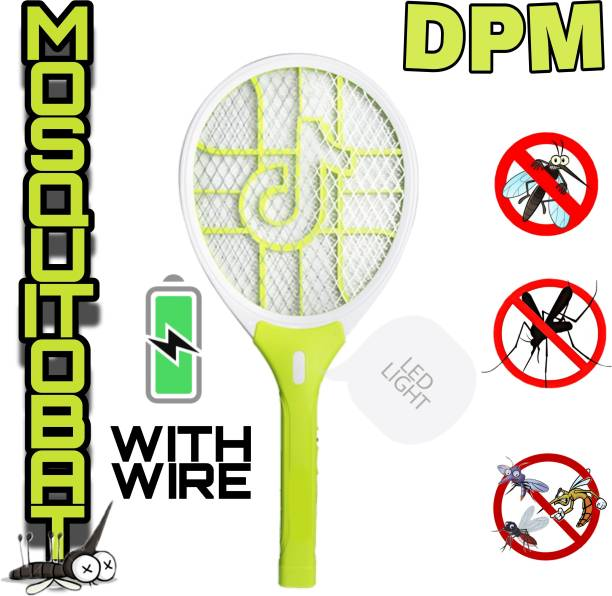 DPM 304 Heavy Duty Mosquito Bat/ Mosquito Racket With Torch & Charging Wire RECHARGEABLEI MOSQUITO SWATTER NET HIGT CAPACITY BATTERY 500mAH Electric Insect Killer