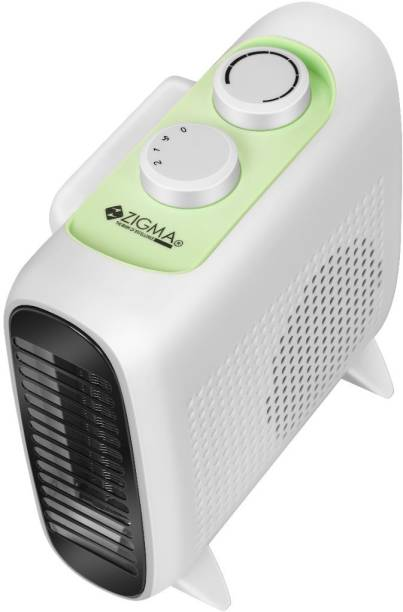 zigma Z-1036 Quiet 2000 W 2 Heat Settings,Energy Saving, Safety Features, Nice for Home with Pets / Kids Fan Room Heater