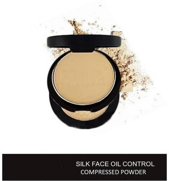 super international Silk Face Oil Control Pressed Powder SPF 15 Compact