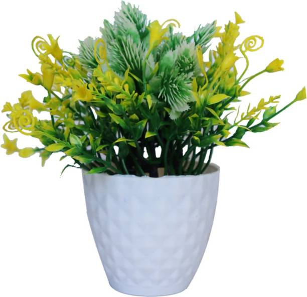 HANIRY Artificial plant for home decoration set of 1 small table plant for Home / office :: balcony :: dining tables :: ( PACK OF 1 ) Plastic Flower Basket
