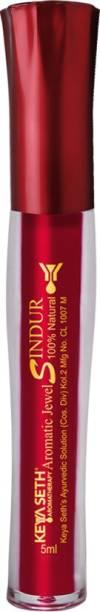 KEYA SETH AROMATHERAPY Aromatic100% Natural Liquid Sindoor Maroon with Sponge-Tip- Applicator- Long lasting Chemical free & Waterproof with Floral Pigment-5ml Sindur